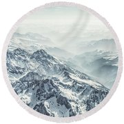 Where The Snow Never Melts Round Beach Towel