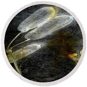 Where There Had Been Light II Round Beach Towel