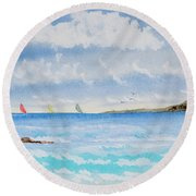 Where There's A Wind, There's A Race Round Beach Towel