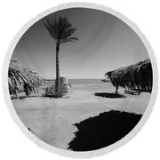 Where Would I Feel Best Round Beach Towel