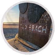 Where's Your Pooch Round Beach Towel