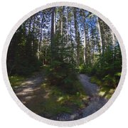 Which Path? Round Beach Towel