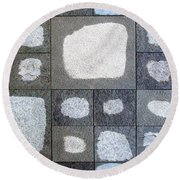 While We Were Having Lunch It Rained Round Beach Towel by Ethna Gillespie