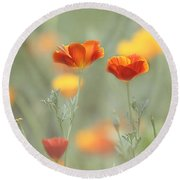 Whimsical Summer Round Beach Towel