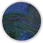 Whimsy 1 Round Beach Towel
