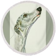 Whippet Round Beach Towel