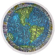 Whirled Piece Round Beach Towel