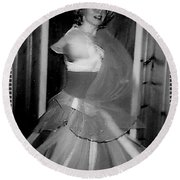 Round Beach Towel featuring the photograph Whirling Dervish by Denise Fulmer