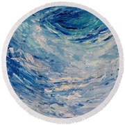 Round Beach Towel featuring the painting Whirlpool by Fred Wilson