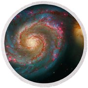 Whirlpool Galaxy M51 Round Beach Towel by Paul W Faust - Impressions of Light