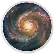 Whirlpool Galaxy  Round Beach Towel