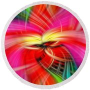 Whirlwind Of Colors Round Beach Towel