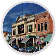 Whiskey Row - Prescott  Round Beach Towel