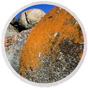 Round Beach Towel featuring the photograph Whisky Rocks by Angela DeFrias