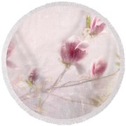 Whisper Of Spring Round Beach Towel