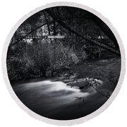 Round Beach Towel featuring the photograph Whispering Brooke by Tim Nichols