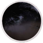 Whispering Mist Round Beach Towel