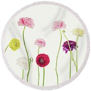 Whispering Spring Round Beach Towel