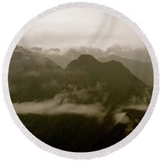Whispers In The Andes Mountains Round Beach Towel