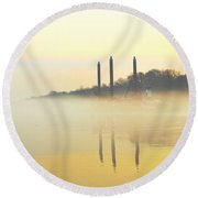 Whispers In The Wind - Contemporary Art Round Beach Towel