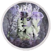 Whispers Of The Deep  Round Beach Towel