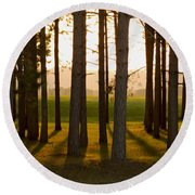 Whispers Of The Trees Round Beach Towel