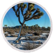 White Christmas 2016 Round Beach Towel