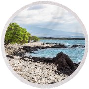 White Coral Coast Round Beach Towel