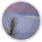 White Dunes Round Beach Towel
