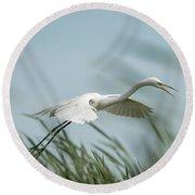 White Egret 2016-2 Round Beach Towel
