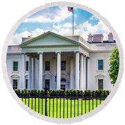 White House Round Beach Towel by Anthony Baatz