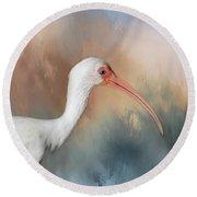 White Ibis - 2 Round Beach Towel