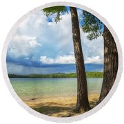 White Lake Round Beach Towel