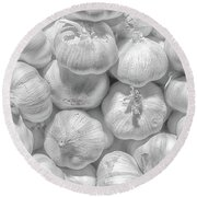 White Pearls Round Beach Towel