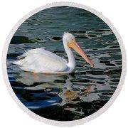 White Pelican, Too Round Beach Towel