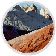 Round Beach Towel featuring the photograph White Pocket 34 by Bob Christopher