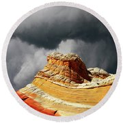 Round Beach Towel featuring the photograph White Pocket 35 by Bob Christopher