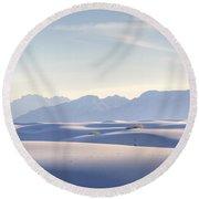 White Sands Blue Sky Round Beach Towel