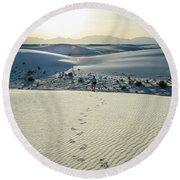 White Sands Journey Round Beach Towel