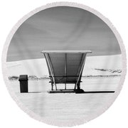 White Sands National Monument #10 Round Beach Towel