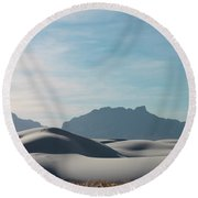 Round Beach Towel featuring the painting White Sands Natural Anatomy  by Jack Pumphrey