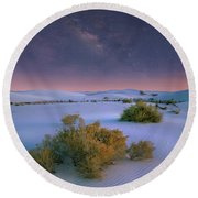 White Sands Starry Night Round Beach Towel