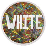 White Round Beach Towel