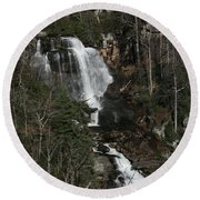 Whitewater Falls Round Beach Towel by Cathy Harper