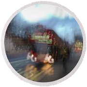 Round Beach Towel featuring the photograph Whitehall by Alex Lapidus