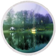 Round Beach Towel featuring the photograph White's Cove Awakening by Brian Wallace