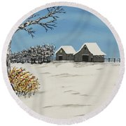 Whitetail  Lookout Round Beach Towel by Jeffrey Koss