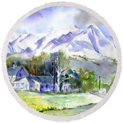 Whitney's White House Ranch Round Beach Towel