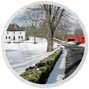 Whittier Birthplace Round Beach Towel