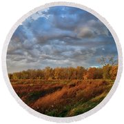 Who Has Seen The Wind? Round Beach Towel